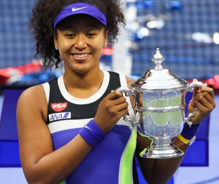Naomi Osaka Celebrates U.S Open Win With Cordae